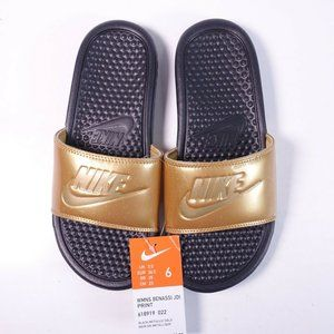 Nike Benassi JDI Slide Sandals 618919-022 Gold